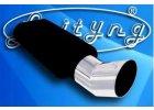 Univerzální sportovní výfuky s jednou kulatou koncovkou. Montážní vstupní průměr 40,50 nebo 60mm (na zakázku lze i jiný průměr).