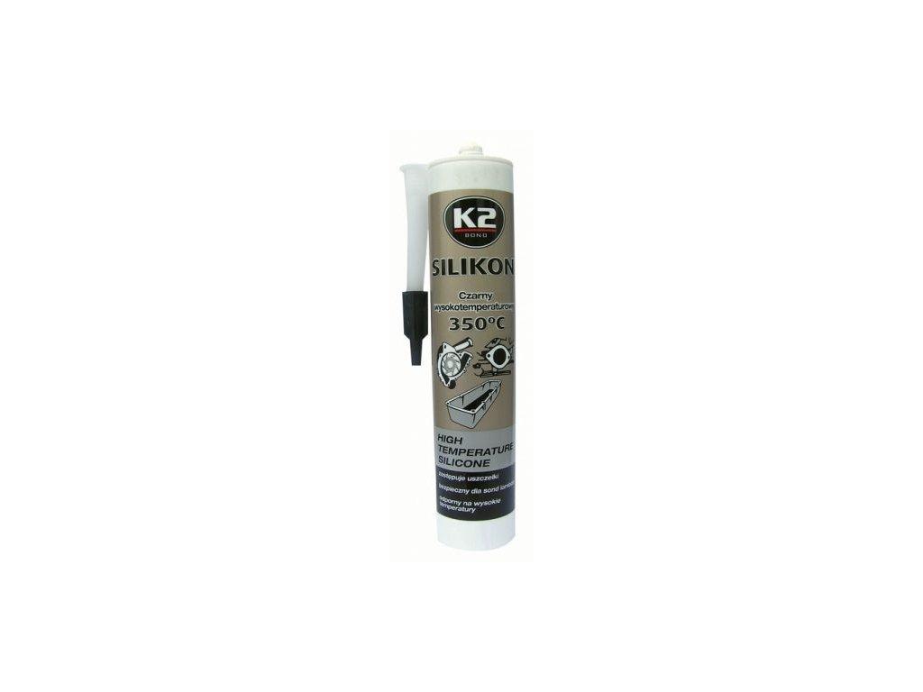 K2 SILICONE BLACK 300 g - silikon pro utěsnění části motoru při montáži