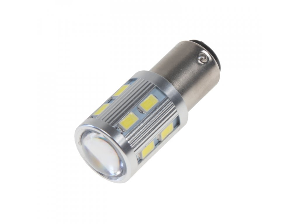 LED BAY15D bílá, 12SMD 5630 + 3W Osram 10-30V