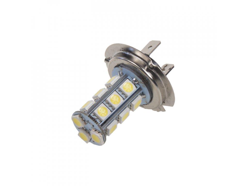 LED H7 bílá, 12V, 18LED/3SMD