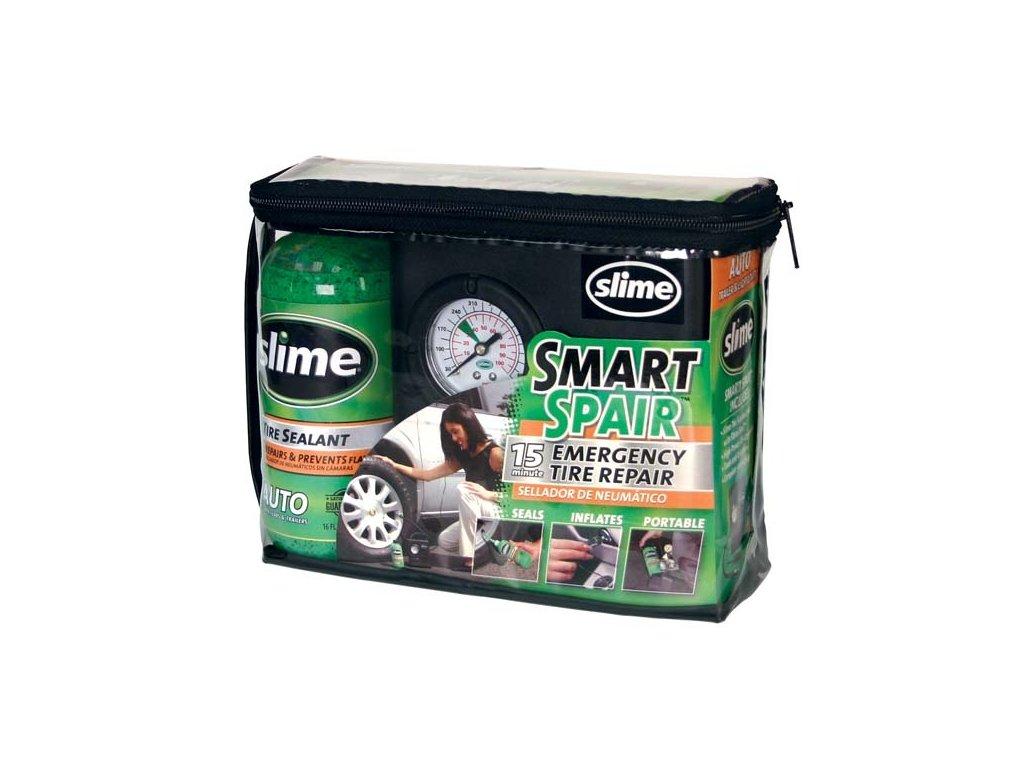SLIME Smart Spair -  opravná polautomatická sada pneu s kompresorem 12V