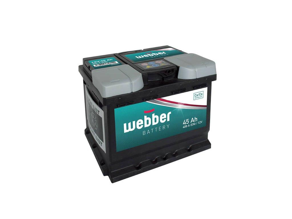 Autobatéria WEBBER 12V, 45AH, 360A, akumulator