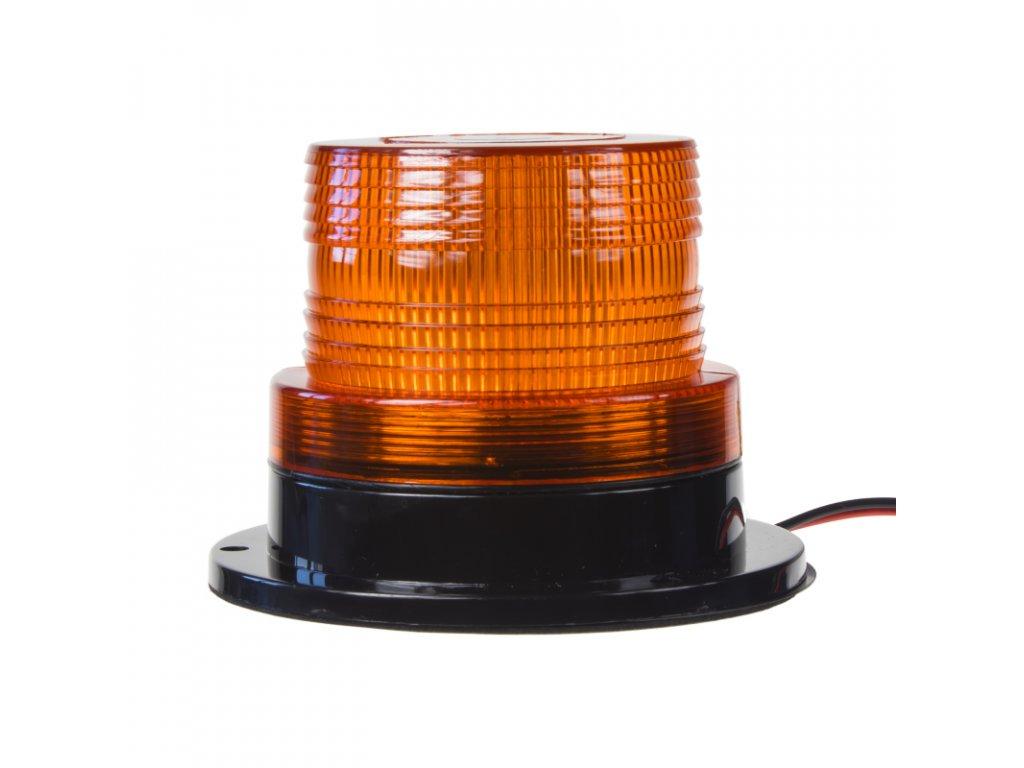 x LED maják, 12-110V, oranžový, 20xSMD5730 fix