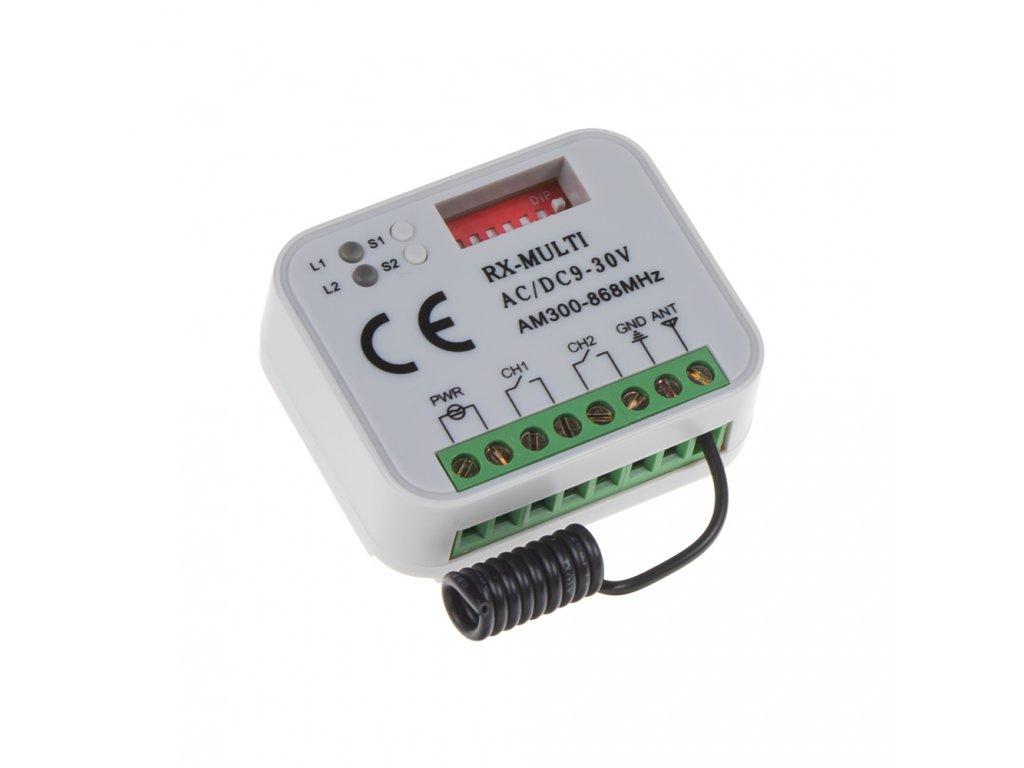 Univerzální přijímač k vratům, bránám 300-868 Mhz