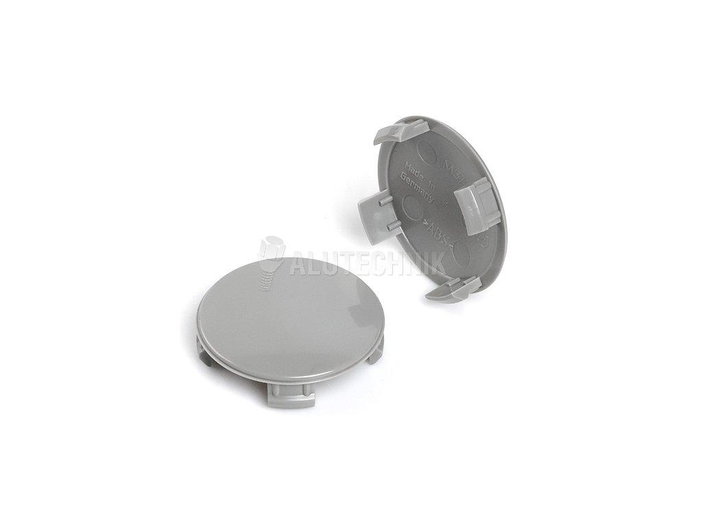Středová krytka kola - poklička průměr 53,5/56,5mm(vnitřní,vnější) BMW,Mini, plast šedá bez loga (M57) úchyt 5mm