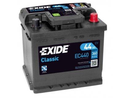 Autobaterie EXIDE Classic 12V 44Ah 360A EC440
