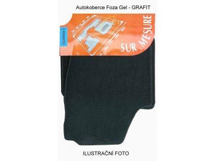 Autokoberce Škoda FABIA II, 4 díly materiál FORZA GEL