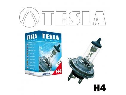 Automobilová žárovka TESLA H4 12V 55W P43t