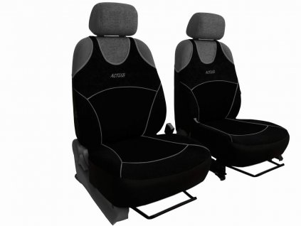 Autopotahy Active Sport Alcantara, sada pro dvě sedadla, černé