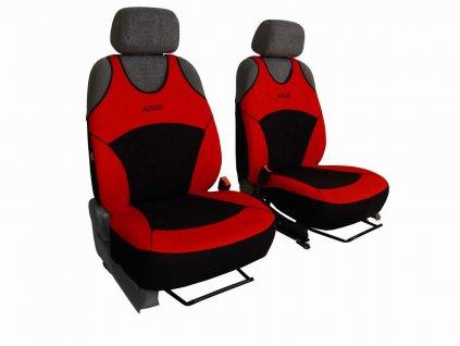 Autopotahy Active Sport Alcantara, sada pro dvě sedadla, červené