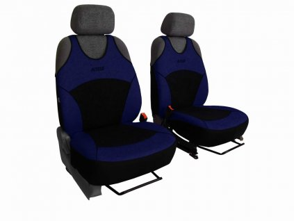 Autopotahy Active Sport Alcantara, sada pro dvě sedadla, modré