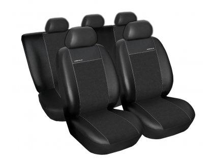 Autopotahy Citroen C4 Picasso I, od r. 2006-2013, 5míst, Eco kůže + alcantara černé