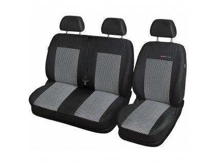 Autopotahy Citroen Jumpy II, 3 místa, od r. 2007, šedo černé