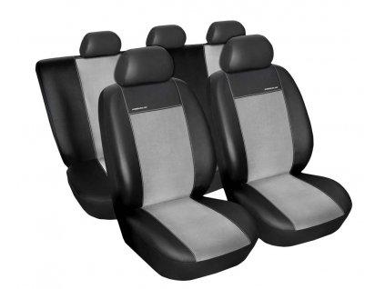 Autopotahy Ford Mondeo IV, od r. 2007-2014, Eco kůže + alcantara šedé