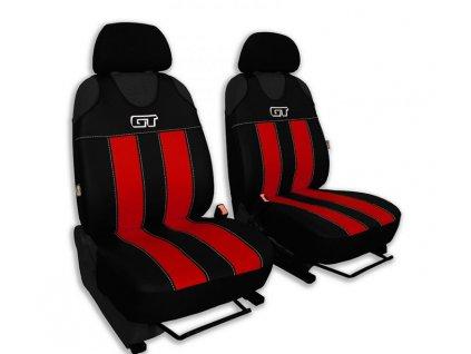 Autopotahy GT kožené, sada pro dvě sedadla, červené