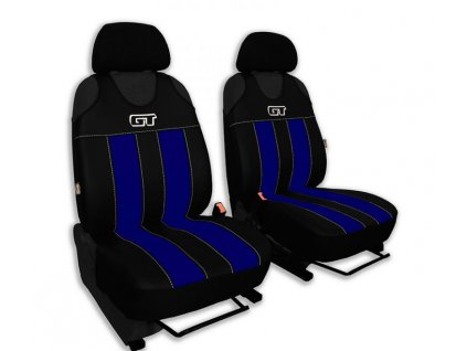 Autopotahy GT kožené, sada pro dvě sedadla, modré