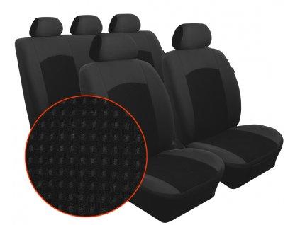 Autopotahy KIA CARENS IV, od r. 2013, 5 míst, Dynamic velur černý