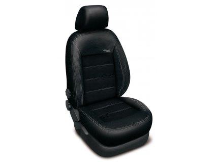 Autopotahy kožené SEAT LEON II, 5 dveř, od r. 2010, kůže a alcantara