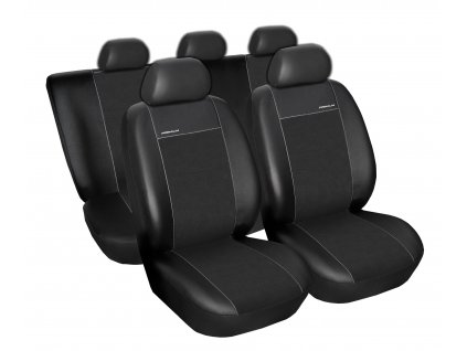 Autopotahy Peugeot 308 SW, 5 míst, od r. 2007-2013, Eco kůže + alcantara černé
