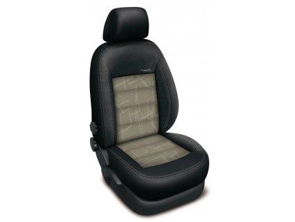 Autopotahy Peugeot 407, bez zadní loketní opěrky, AUTHENTIC DOBLO, matrix béžový