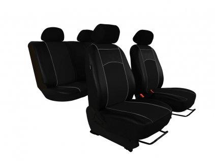 Autopotahy Škoda Octavia I TOUR kožené Tuning, dělené, 5 opěrek hlavy, černé