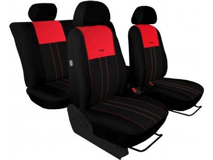 Autopotahy ŠKODA RAPID, integrované přední opěrky hlavy, DUO červeno černé