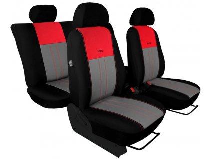 Autopotahy ŠKODA RAPID, integrované přední opěrky hlavy, DUO červeno šedé