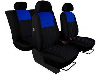 Autopotahy ŠKODA RAPID, integrované přední opěrky hlavy, DUO modro černé