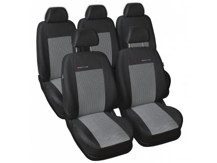 Autopotahy Škoda Roomster, 5 míst, šedo černé