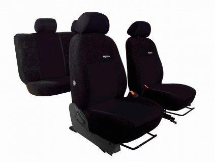 Autopotahy VOLKSWAGEN POLO V, dělená zadní sedadla, od r. v. 2009, ELEGANCE černé