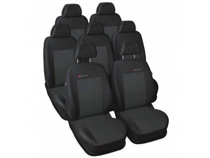 Autopotahy Volkswagen Sharan II, od r. 2010, 7 míst, dětská sedačka, antracit
