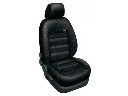 Autopotahy Volkswagen T5 8 míst, 1+1-2+1-3, od r. 2003, AUTHENTIC LEATHER černé