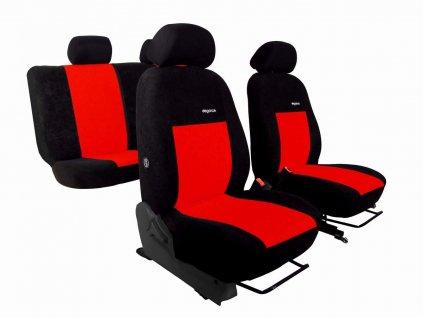 Autopotahy VW Golf V, 03-09, dělené z.opěradlo a sedadlo, ELEGANCE ALCANTARA  černočervené