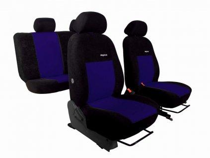 Autopotahy VW Golf V, 03-09, dělené z.opěradlo a sedadlo, ELEGANCE modré