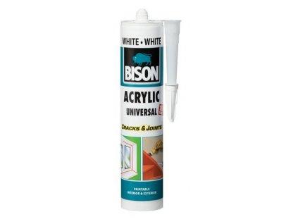 BISON ACRYLIC UNIVERSAL WHITE  Akrylátový tmel 300 ml