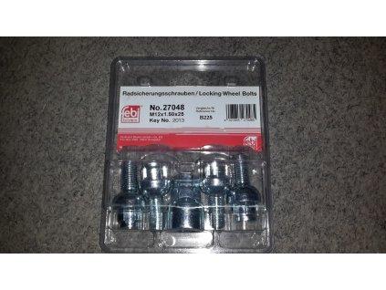 Blocky B225 pojistné šrouby M12x1,50x25mm kulová R12, klíč 17/19