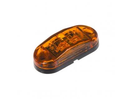 Boční obrysové LED světlo 12-24V, oranžový ovál, homologace