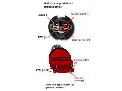 CREE LED T20 (7443) bílá, 12SMD Samsung + 3W Osram 10-30V
