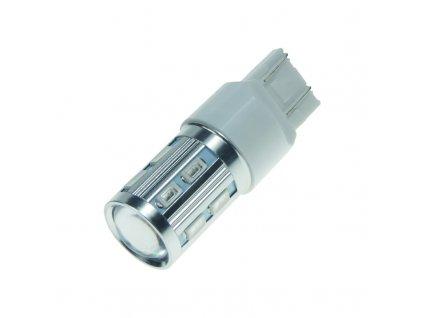 CREE LED T20 (7443) červená, 10-30V 12SMD + 3W LED