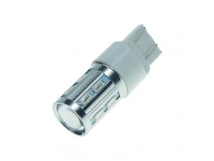CREE LED T20 (7443) oranžová, 10-30V, 12SMD + 3W LED