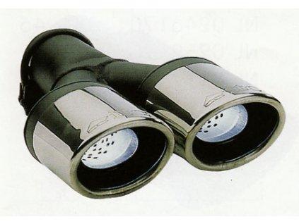 ITC Koncovka výfuku  s tlumící výplní 2 x 90x70mm x 300mm
