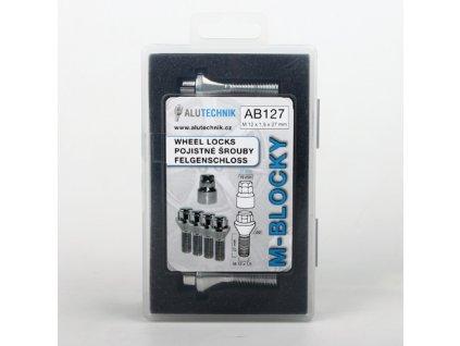 M-BLOCKY AB127 pojistné šrouby M12x1,50x27mm kužel, klíč 17/19