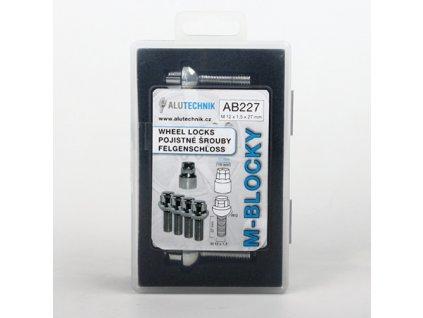M-BLOCKY AB227 pojistné šrouby M12x1,50x27mm, koule R12, klíč 17/19