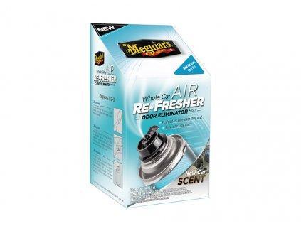 Meguiar's Air Re-Fresher Odor Eliminator - New Car Scent - desinfekce klimatizace + pohlcovač pachů + osvěžovač vzduchu, 71 g