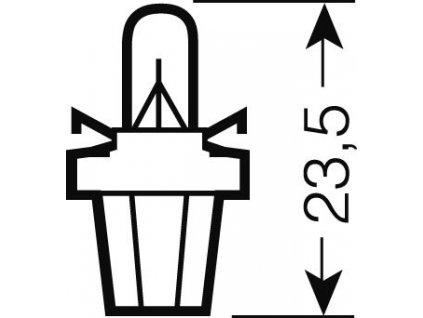 OSRAM 12V B8,5d 2W standard (10ks)