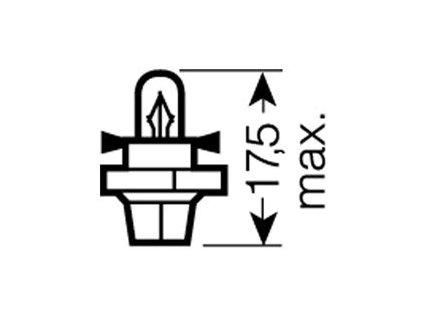 OSRAM 12V BX8,4d 2W standard (10ks)