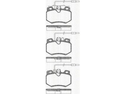 TEXTAR Brzdové destičky sada Citroen, Peugeot 20989 177 0 5 T4078
