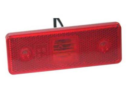 Zadní obrysové světlo LED, červené 24V pár