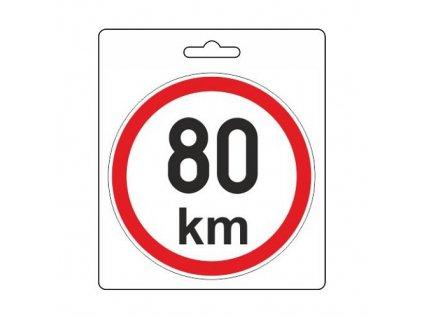 COMPASS Samolepka omezená rychlost 80km/h (110 mm)