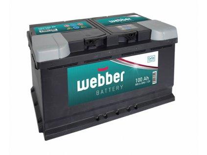 Autobatéria WEBBER 12V, 100AH, 800A, akumulator (1)